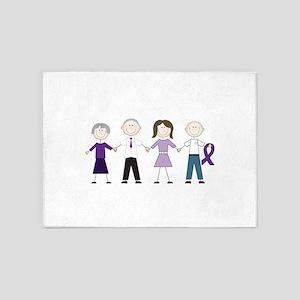 Alzheimers Stick Figures 5'x7'Area Rug