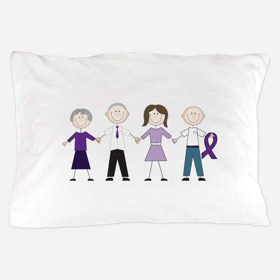 Alzheimers Stick Figures Pillow Case