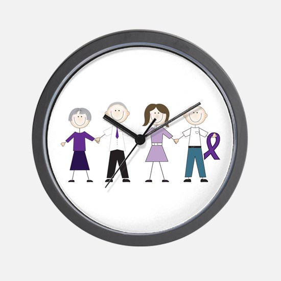 Alzheimers Stick Figures Wall Clock