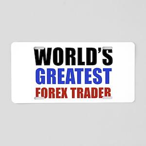 Forex trader designs Aluminum License Plate