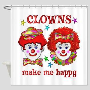 CLOWN Happy Shower Curtain