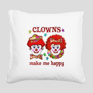 CLOWN Happy Square Canvas Pillow