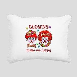 CLOWN Happy Rectangular Canvas Pillow