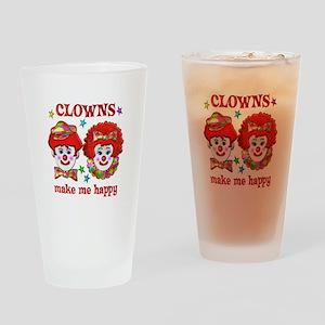 CLOWN Happy Drinking Glass