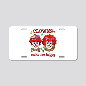 CLOWN Happy Aluminum License Plate