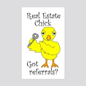 Real Estate Chick Referrals Sticker (Rectangle)