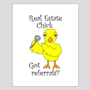 Real Estate Chick Referrals Small Poster