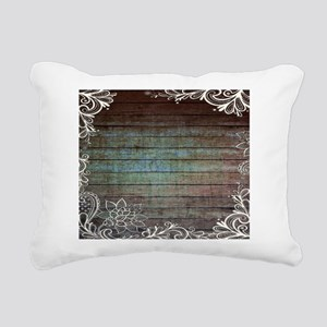 modern lace woodgrain country decor Rectangular Ca