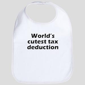 Worlds Cutest Tax Deduction Bib