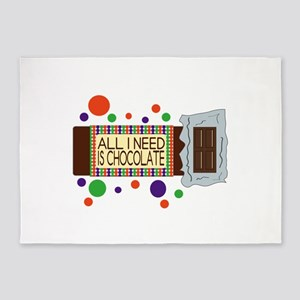 All I Need Is Chocolate 5'x7'Area Rug