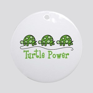 Turtle Power Ornament (Round)