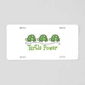Turtle Power Aluminum License Plate