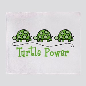 Turtle Power Throw Blanket