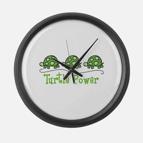Turtle Power Large Wall Clock
