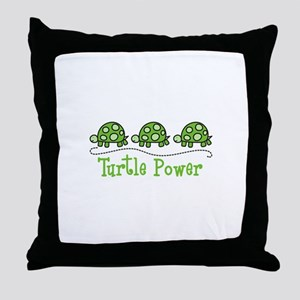 Turtle Power Throw Pillow