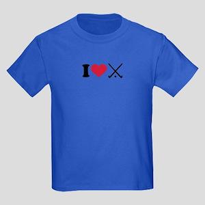 I love Field hockey clubs Kids Dark T-Shirt