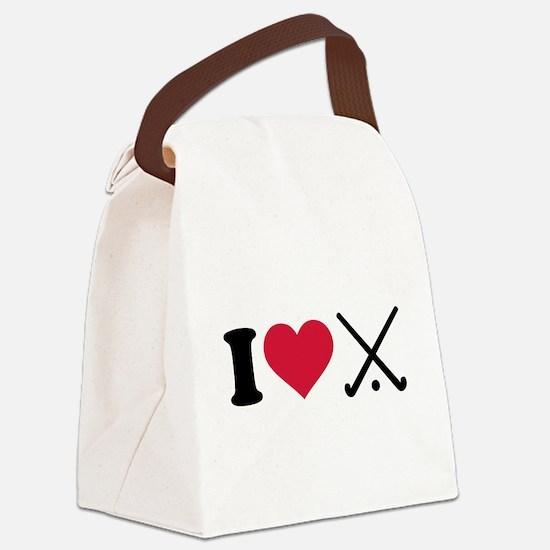 I love Field hockey clubs Canvas Lunch Bag