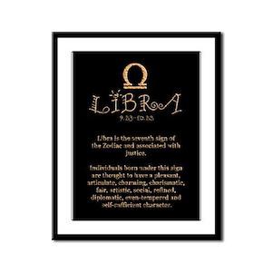 Libra Framed Panel Print