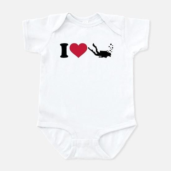 I love Scuba Diving Infant Bodysuit