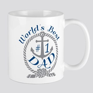Worlds Best number 1 Dad in Anchor and Rope Mugs