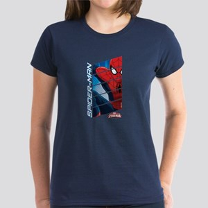 Spiderman Stack Women's Dark T-Shirt