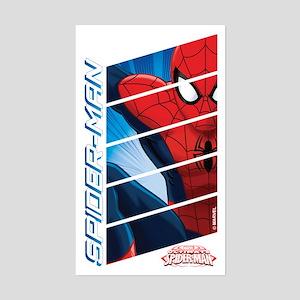 Spiderman Stack Sticker (Rectangle)