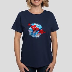 Spiderman Web Women's Dark T-Shirt