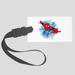 Spiderman Web Large Luggage Tag