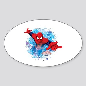 Spiderman Web Sticker (Oval)