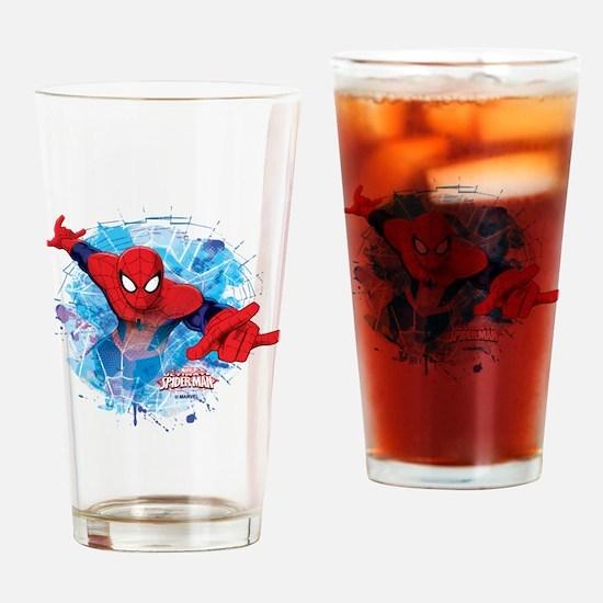 Spiderman Web Drinking Glass