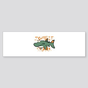 Zombie Shark Bumper Sticker