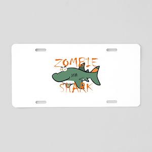 Zombie Shark Aluminum License Plate