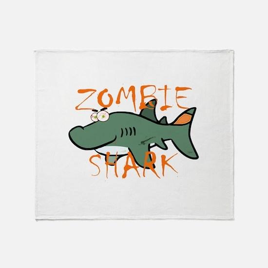 Zombie Shark Throw Blanket