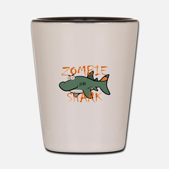 Zombie Shark Shot Glass