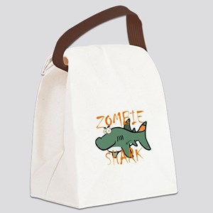 Zombie Shark Canvas Lunch Bag