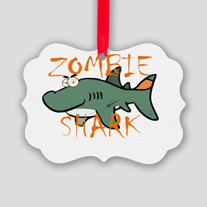 Zombie Shark Picture Ornament
