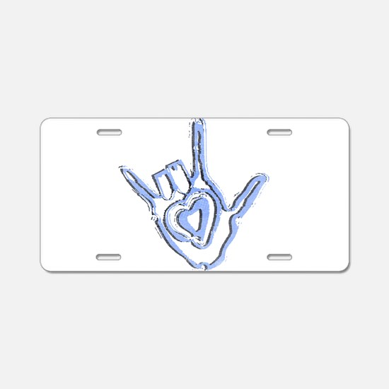 Cute Love america Aluminum License Plate