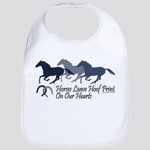Hoof Prints On Our Hearts Bib