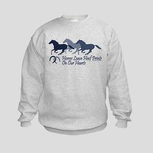 Hoof Prints On Our Hearts Kids Sweatshirt