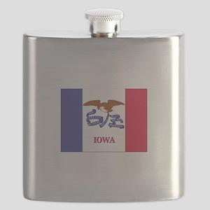 Flag of Iowa Flask