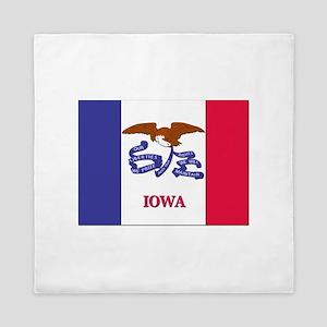 Flag of Iowa Queen Duvet