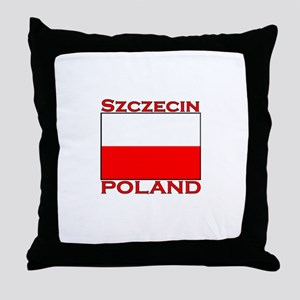 Szczecin, Poland Throw Pillow
