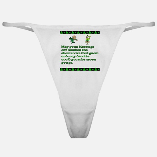 Irish Saying, Blessings and T Classic Thong