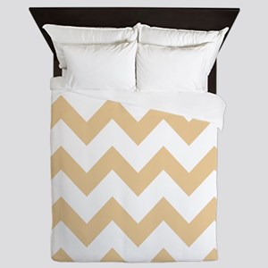 Tan Chevron Stripes Queen Duvet