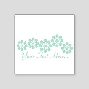 Custom Mint Green Fantasy Floral Sticker