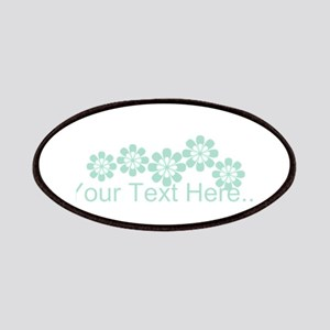 Custom Mint Green Fantasy Floral Patches