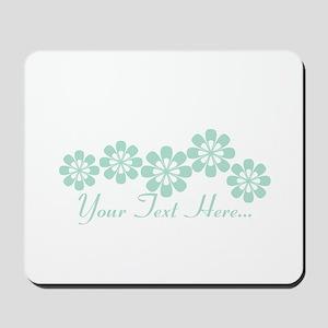 Custom Mint Green Fantasy Floral Mousepad