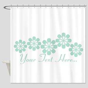 Custom Mint Green Fantasy Floral Shower Curtain