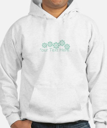 Custom Mint Green Fantasy Floral Jumper Hoody