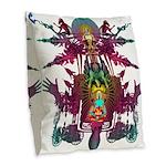 pandemonium10x10_apparel Burlap Throw Pillow